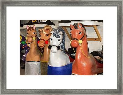 Parade Horses Framed Print by Cheryl Cencich