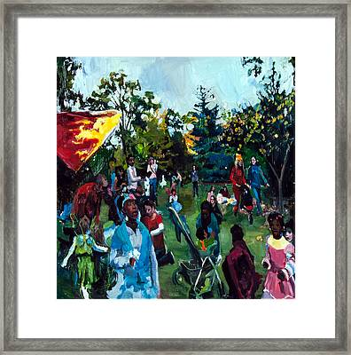 Parade II Framed Print by Mia Merlin