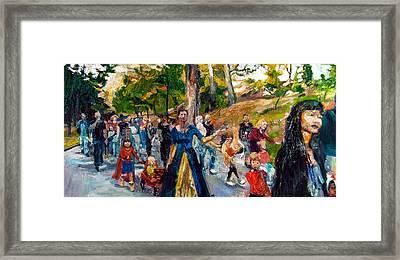 Parade IIi Framed Print by Mia Merlin