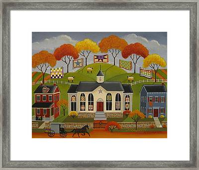 Parade Of Quilts Framed Print by Mary Charles