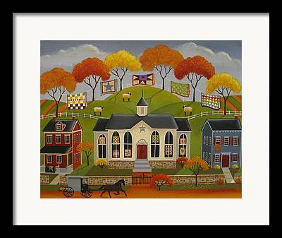 Colorful Quilts Framed Prints