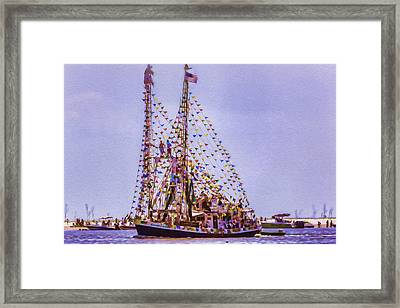 Parading Through Framed Print by Barry Jones