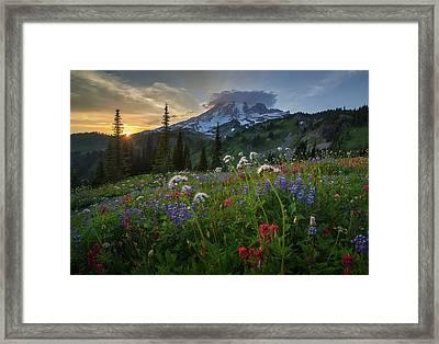 Paradise At Sunset Framed Print