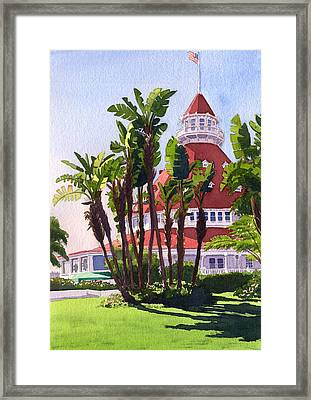 Paradise At The Hotel Del Coronado Framed Print by Mary Helmreich