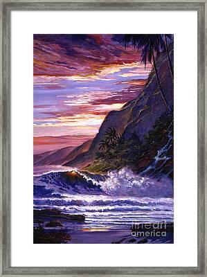Paradise Beach Framed Print by David Lloyd Glover