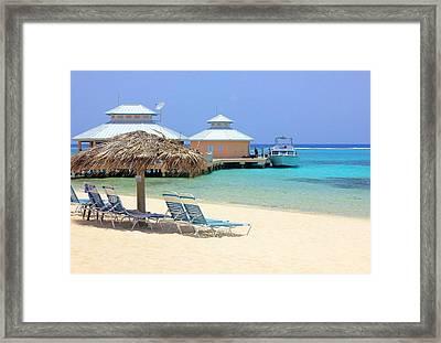 Paradise Docking Framed Print