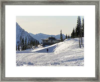 Paradise Found And Lost - Mt. Rainier Framed Print