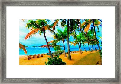 Paradise Found Framed Print by Jennifer Simpson