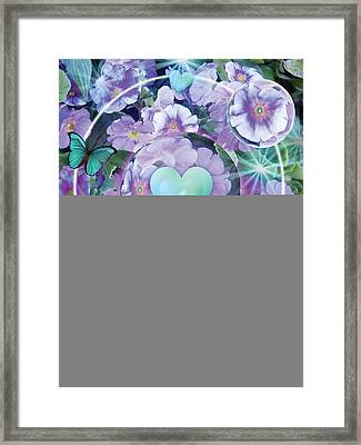 Paradise Garden Heart Framed Print by Alixandra Mullins