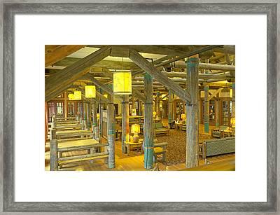 Paradise Inn Lobby Framed Print