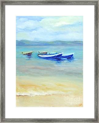 Framed Print featuring the painting Paradise Island  by Barbara Anna Knauf