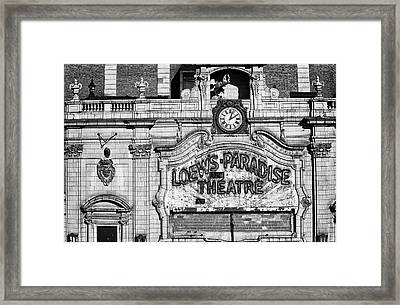 Paradise Movie Theatre Framed Print