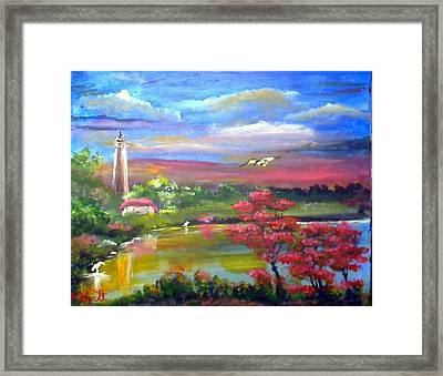 Paradise Nature Framed Print by M Bhatt