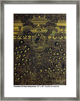 Paradise Of Holy Sakyamuni Framed Print by Fei A