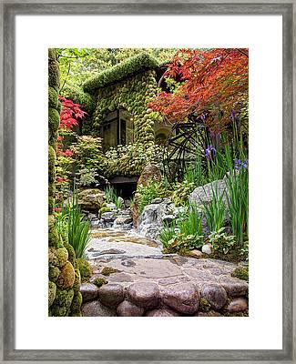 Paradise On Earth - Japanese Garden 2 Framed Print by Gill Billington