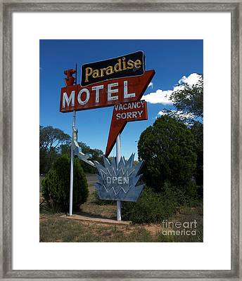 Paradise On Route 66 Framed Print by Mel Steinhauer