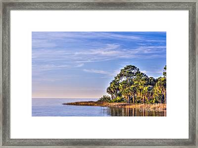 Paradise On The Gulf Framed Print