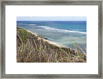 Framed Print featuring the photograph Paradise Overlook by Suzanne Luft