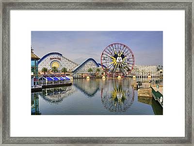 Paradise Pier Framed Print by Ricky Barnard