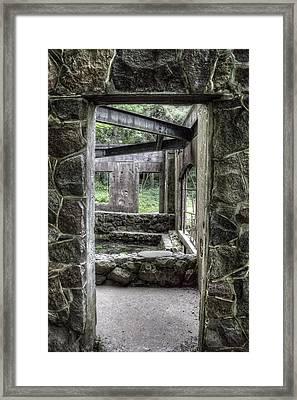 Paradise Springs Spring House Doorway Framed Print