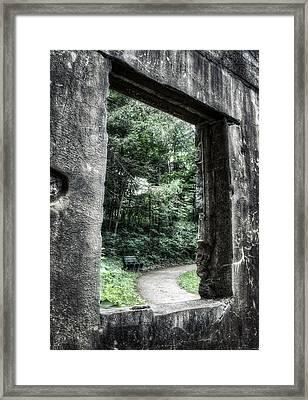 Paradise Springs Spring House Window 1  Framed Print
