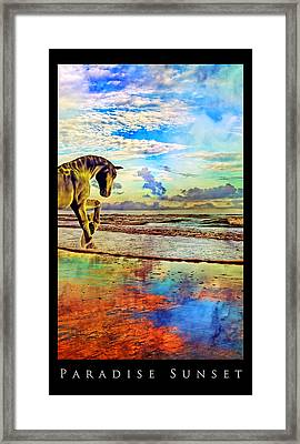 Paradise Sunset Framed Print by Betsy Knapp