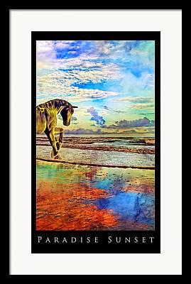 Mystic Setting Mixed Media Framed Prints