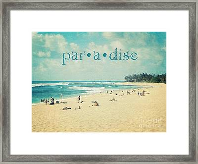Framed Print featuring the photograph Paradise by Sylvia Cook