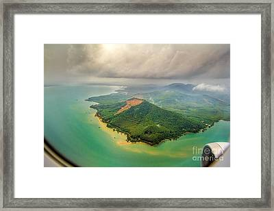 Paradise Vacation Framed Print by Niphon Chanthana