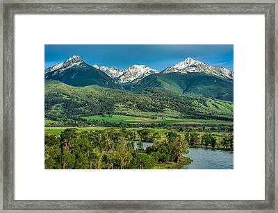 Paradise Valley Framed Print by Joan Herwig