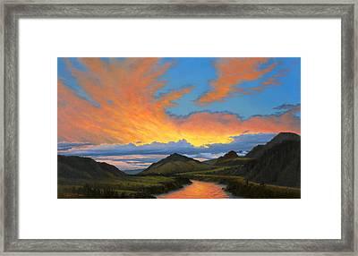 Paradise Valley Sunset  Framed Print