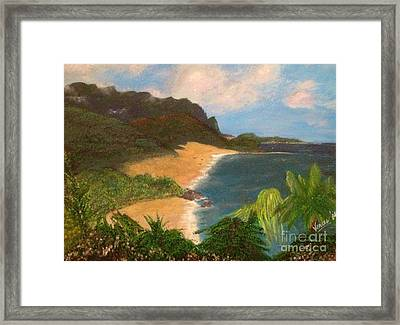 Framed Print featuring the painting Paradise by Vanessa Palomino