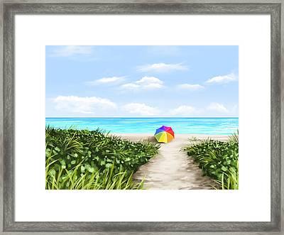 Paradise Framed Print by Veronica Minozzi