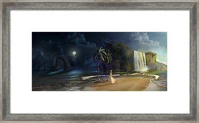 Paradise Framed Print by Virginia Palomeque