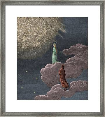 Paradiso  Canto Fourteen Framed Print by Gustave Dore