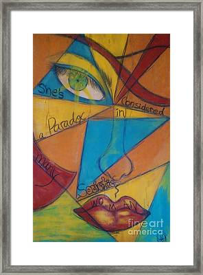 Paradox Woman Framed Print by Adriana Garces