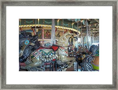 Paragon Carousel Nantasket Beach Framed Print by Barbara McDevitt