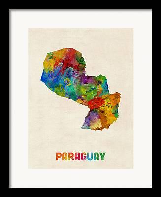 Paraguay Framed Prints