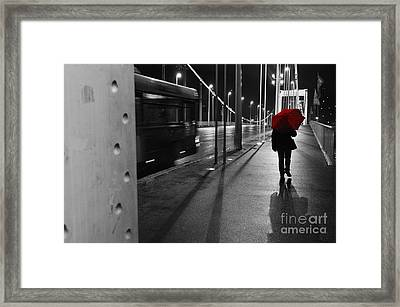 Parallel Speed Framed Print by Simona Ghidini