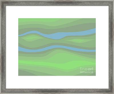 Parallel Streams Topo Framed Print