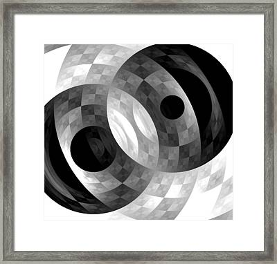 Framed Print featuring the digital art Parallel Universes by Martina  Rathgens