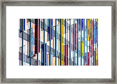 Parallels And Rectangles Framed Print by Adam Pender