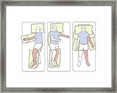 Paralysed Patient Support Framed Print