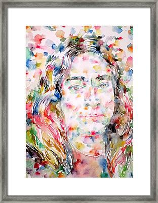Paramahansa Yogananda Watercolor Portrait Framed Print
