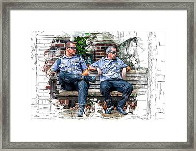 Paramedics Keeping Watch Framed Print
