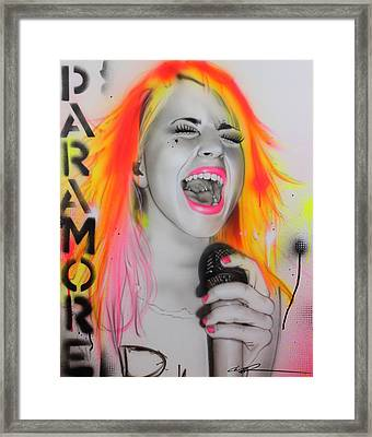 Hayley Williams - ' Paramore ' Framed Print by Christian Chapman