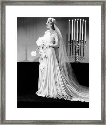 Paramount Starlet Ellen Drew, Modeling Framed Print by Everett