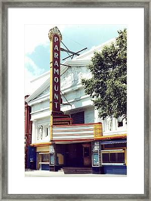 Paramount Theater In Baton Rouge Framed Print