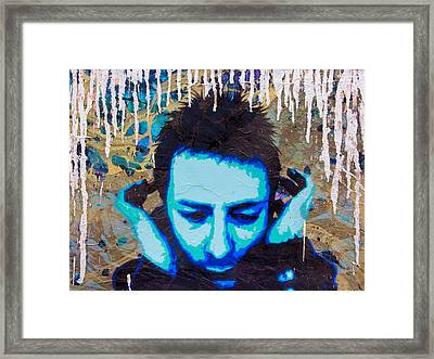 Paranoid Android Re-mix Framed Print by Bobby Zeik