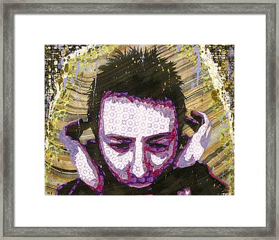 Paranoid Android Version Framed Print by Bobby Zeik